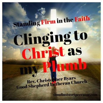 Clinging to Christ as my Plumb