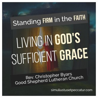 Living in Gods Sufficient Grace