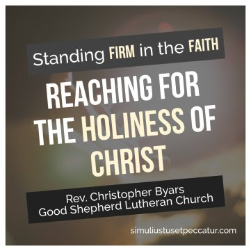 Reaching Out for the Holiness of Christ