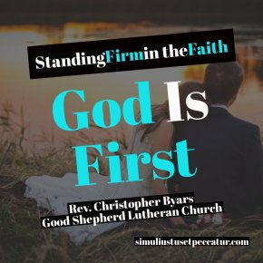 God Is First