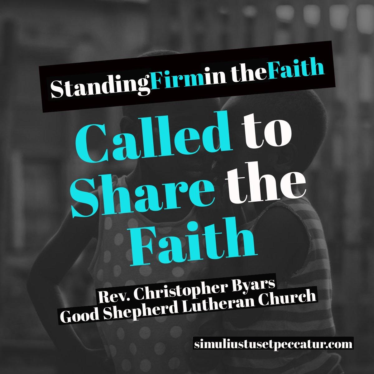 Called to Share the Faith